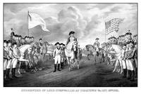 Digitally restored vintage Revolutionary War print