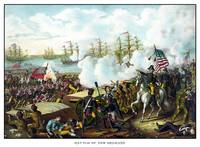 Digitally restored vintage War of 1812 print featu