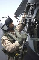 Aviation Warfare Systems Operator safety checks a