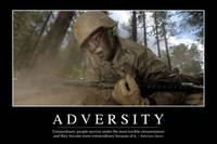 Adversity: Inspirational Quote and Motivational Po