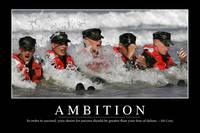 Ambition: Inspirational Quote and Motivational Pos