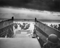 American troops approaching Omaha Beach in World W