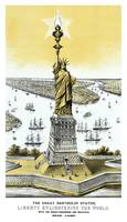 Architecture print featuring The Statue of Liberty