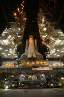Space Shuttle Endeavour inside the Vehicle Assembl