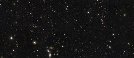 A panoramic view of over 7500 galaxies