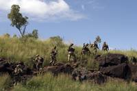 Marines patrol the Australian outback