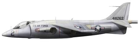 Illustration of a Hawker P1127 Kestrel
