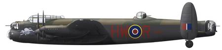 Illustration of a World War II era Avro Lancaster