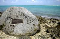 A memorial to prisoners of war on Wake Island
