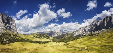 Panoramic shot of a field in the Dolomite Alps, No