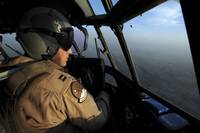 A US Air Force C130J Hercules pilot flies a missio