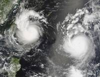 Typhoon Saomai and Tropical Storm Bopha