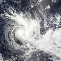 Tropical Cyclone Daman over the South Pacific Ocea