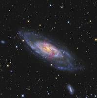 Messier 106 a spiral galaxy with an active superma