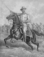 Colonel Theodore Roosevelt on horseback