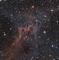 Cometary Globules CG 30/31/38 in the constellation