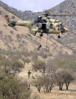 hilean Special Forces perform an Air Assault demon
