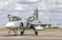 A JAS-39 Gripen of the Czech Air Force at Cambrai