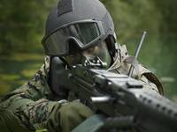 U.S. Marine during combat operations