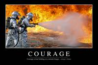Courage: Inspirational Quote and Motivational Post