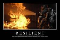 Resilient: Inspirational Quote and Motivational Po