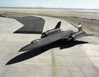 High angle view of a SR 71A Blackbird