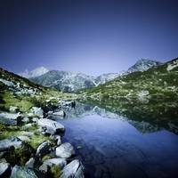 Ribno Banderishko Lake in Pirin National Park, Ban