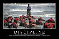 Discipline: Inspirational Quote and Motivational P