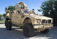 An Oshkosh M ATV Mine Resistant Ambush Protected a
