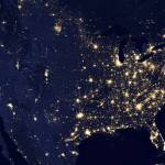 """City lights of the United States at night"" by stocktrekimages"