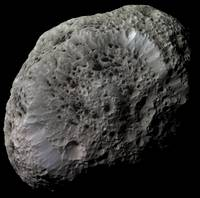 Falsecolor view of Saturns moon Hyperion