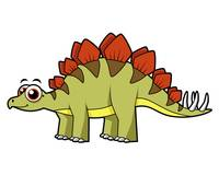 Cute illustration of a Stegosaurus dinosaur