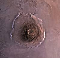 Olympus Mons the largest known volcano in the Sola