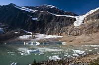 View of the Angel Glacier on Mount Edith Cavell in