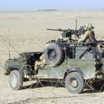 """Gurkhas patrol Afghanistan in a Land Rover"" by stocktrekimages"