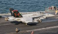 An F/A-18C Hornet ready to launch aboard USS Georg