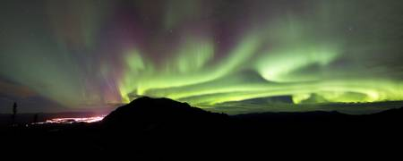 Aurora Borealis over Gray Peak, Whitehorse, Yukon