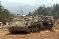 A M113 armored personnel carrier of the Israel Def