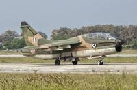 An A-7 Corsair II of the Hellenic Air Force at Ara