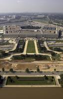 Aerial photograph of the Pentagon with the River P