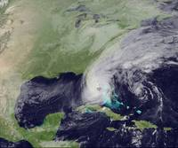 Hurricane Wilma Crosses Florida