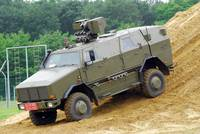 The Dingo 2 MPPV of the Belgian Army on rough terr