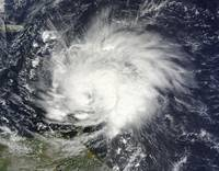 Hurricane Tomas over the Lesser Antilles