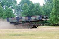 A bridgelayer in use by the Belgium Army