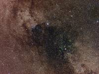 Widefield view of star flux in Cygnus