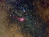Widefield view of nebulae in Sagittarius