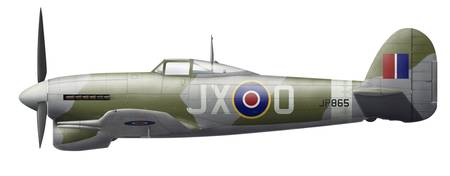 Illustration of a Hawker Typhoon of the Royal Air