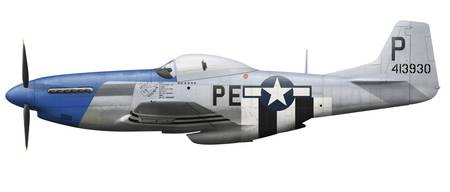 P-51D Mustang assigned to the 328th Fighter Squadr