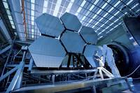 A James Webb Space Telescope array being tested in