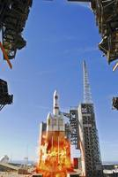 A Delta IV Heavy Launch Vehicle launches from Vand